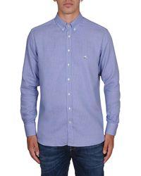 Etro - Men's 163653511201 Light Blue Cotton Shirt - Lyst