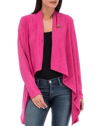 Bobeau - Women¿s One Button Wrap Cardigan Comfy, Cute & Stretchable Sweater - Lyst