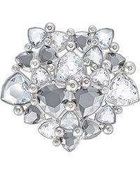 Swarovski - Crystal Fortuna Plated Stainless Steel Brooch - Lyst