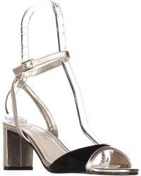 Caparros - Belize Peep Toe Ankle Strap Sandals, Black Gold - Lyst