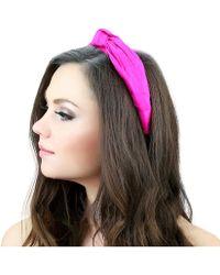 Kristin Perry - Dupioni Silk Knot Headband - Lyst
