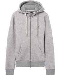 GANT - Women's Grey Cotton Sweatshirt - Lyst