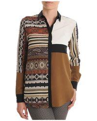 Etro | Women's Brown Silk Shirt | Lyst