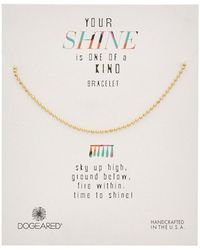 Dogeared - 14k Over Silver Shine Bracelet - Lyst