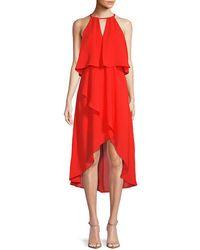 Saks Fifth Avenue Black - High-low Blouson Dress - Lyst