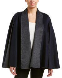 T Tahari - Wool-blend Poncho - Lyst
