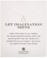 Dogeared - Let Imagination Shine Silver Necklace - Lyst
