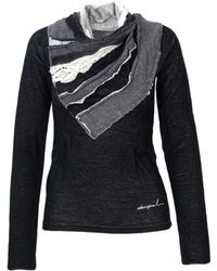 Desigual - Women's 36s2586black Black Cotton Jumper - Lyst