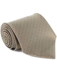 Tom Ford - Mens Brown Wool Micro Square 4 Inch Wide Neck Tie - Lyst