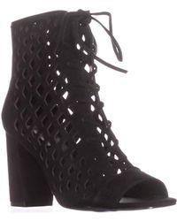 Steve Madden - Denay Ankle Bootie Sandals, Black Suede - Lyst