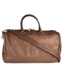 Brunello Cucinelli - Mens Brown Leather Travel Fold Up Garment Bag - Lyst