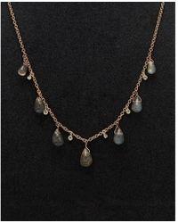 Meira T - 14k Two-tone 5.77 Ct. Tw. Diamond & Labradorite Necklace - Lyst