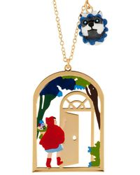 Les Nereides - Into The Woods Little Red Riding At Grandmother's House Long Necklace - Lyst
