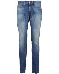 Incotex - Men's Foxd90724821 Blue Cotton Trousers - Lyst