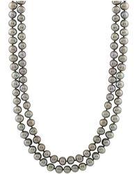 """Splendid - Endless Grey 64"""""""" Pearl Necklace - Lyst"""