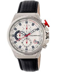 Morphic - M39 Chronograph Leather-band Watch - Lyst