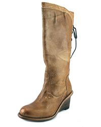 Bed Stu - Express Women Round Toe Leather Tan Boot - Lyst