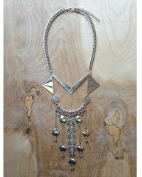 Love Leather - Silver Palace Necklace - Lyst
