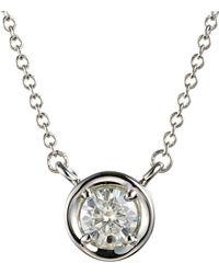 Charles & Colvard - Forever Classic Round 4.5mm Bezel Set Moissanite Pendant Necklace, 0.33ct Dew - Lyst