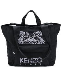 KENZO - Men's Black Polyester Briefcase - Lyst
