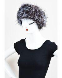 Adrienne Landau - Brown & Gray Fox Fur Headband - Lyst