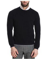 Cruciani - Men's Black Cotton Sweater - Lyst