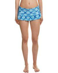 La Blanca | True Blue Ruffle Skirt Swim Bottom | Lyst