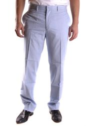GANT - Men's Mcbi131110o Light Blue Cotton Pants - Lyst