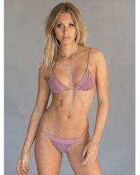 Tori Praver Swimwear - Lahaina Top In Mauve - Lyst