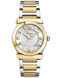 Ferragamo - Men's Vega Stainless Steel And Gold Ion-plated Watch, Model: Fi0970014 - Lyst