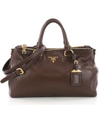 8652d6450f960a Prada - Pre Owned Double Zip Convertible Tote Soft Calfskin Large - Lyst