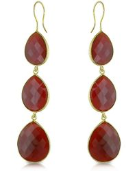 Catherine Malandrino - Carnelian Drop Earrings In Sterling Silver - Lyst