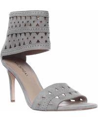 Via Spiga - Vanka Ankle Cuff Dress Sandals, Grey - Lyst