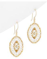 Miguel Ases - 14k Filled Opalite & Crystal Drop Earrings - Lyst
