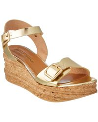 Andre Assous | Belle Leather Wedge Sandal | Lyst