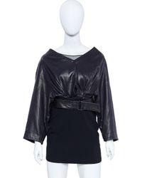 Alaïa - Vintage Azzedine Leather Jacket 1980's Size 6 - Lyst