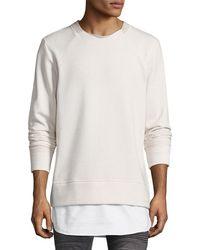 Twenty - Solid Crewneck Sweatshirt - Lyst