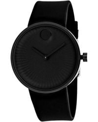 Movado - Edge Black Dial Silicone Watch 3680005 - Lyst