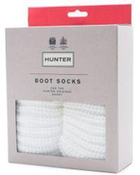 HUNTER - Womens White Half Cardigan Short Boot Socks - Lyst