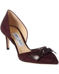 625d4dae4335 Lyst - Jimmy Choo Navy Patent Leather  agnes 85  Pointed Toe Pumps ...