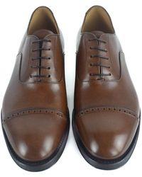 Sutor Mantellassi - Mens Brown Leather Captoe Handmade Oxfords Dress Shoes - Lyst