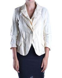 Marithé et François Girbaud - Women's Beige Linen Jacket - Lyst