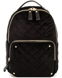 Bungalow 20 - Scarlet Quilted Velvet Backpack - Lyst