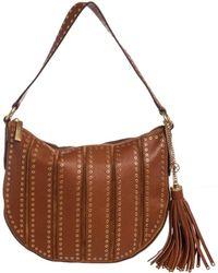 52c439598b Michael Kors - Brown Leather Brooklyn Grommet Crossbody Bag - Lyst