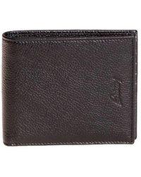 Brioni - Men's Black Leather Wallet - Lyst