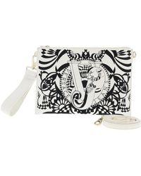 Versace Jeans - Ee1vrbbrb White Clutch/ Shoulder Bag W/ Detachable Strap - Lyst
