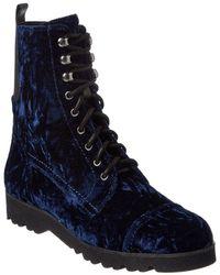 Donald J Pliner - Velvet Combat Boots - Lyst