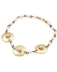 Vanessa Mooney - Moon & Stars Pearl Station Bracelet - Lyst