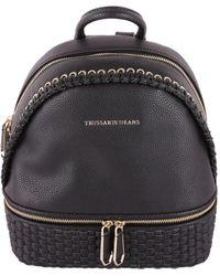 Trussardi - Women's Black Polyurethane Backpack - Lyst