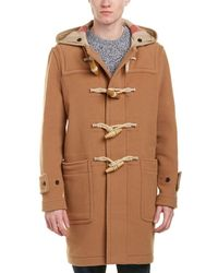 Burberry - Greenwich Duffle Wool-blend Linen-trim Coat - Lyst